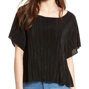MADEWELL Micropleat Top in True Black